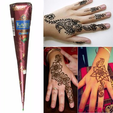 1Pcs Natural Herbal Henna Cones Temporary Tattoo Body Art