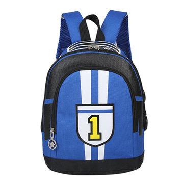Primary School Students Cartoon Backpack Oxford Light School Bag