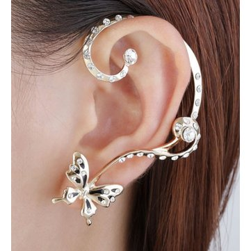 Butterfly Asymmetric Ear Cuff