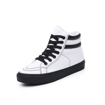 M.GENERAL Black And White Stripe Boots