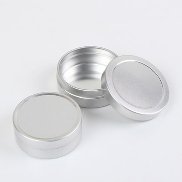 10ML/20ML Empty Silver Aluminum Bottle Face Cream Lip Balm Cosmetic Container