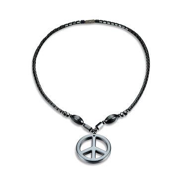 Мужское панк-ожерелье Обычное магнитное каменное ожерелье из бисера