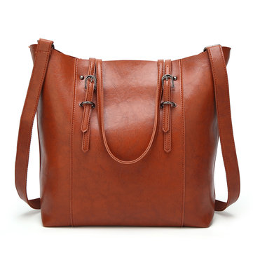Women PU Leather Retro Handbag Tote Bag Sling Bag