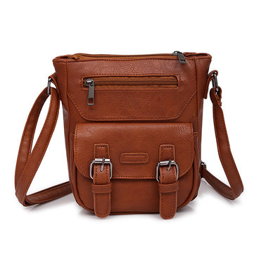 Casual  PU Leather Pure Color Shoulder Bag Crossbody Bags For Women