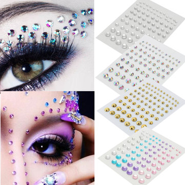 Halloween Crystal Eyeshadow Sticker Jewelry Eyes Makeup Tattoo Diamond Glitter