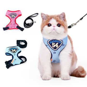 Breathable Mesh Cat Chest Leash Pet Vest