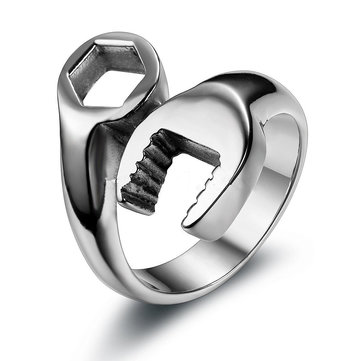 Punk Stainless Steel Wrench Ring