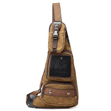Men Vintage Casual Chest Bag Crossbody Bag