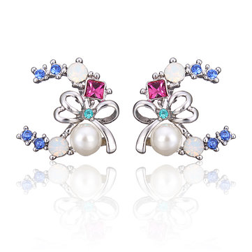 INALIS Bowknot Pearl Earrings