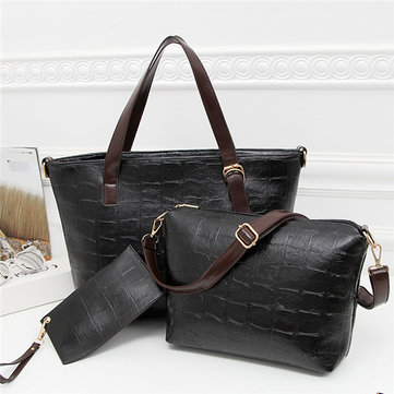 Women Elegant 3PCS Handbag Shoulder Bags Crossbody Bags Totes