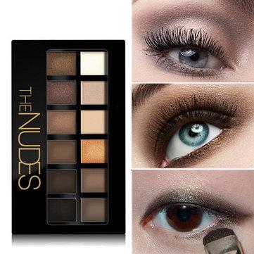 12 Colors Eye Shadow Palette Matte Pearl Eyeshadows Makeup Beauty