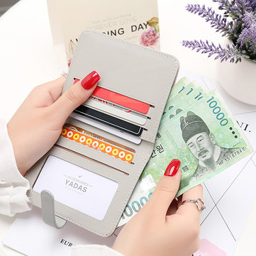 Women Candy Color Short Wallet Card Holder Purse