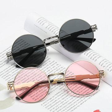 Women Vintage Round UV400 Protection Sunglasses Causal Steam Punk Round Eyeglasses