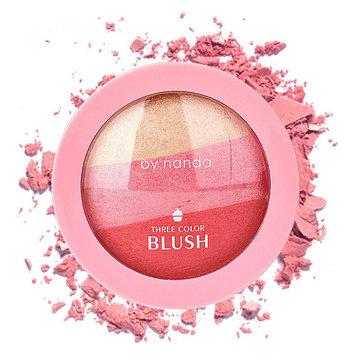 Von nanda 3-Color gebackenes Blush Make-up Kosmetische natürliche Puder-Palette Make-up Gesicht Blusher