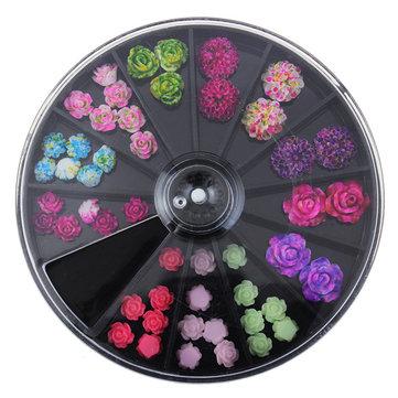 Цветочные украшения для ногтей
