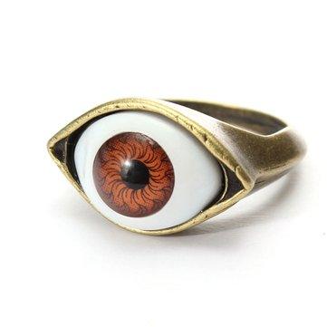 Хэллоуин винтажное панкское бронзовое кольцо с злым глазом