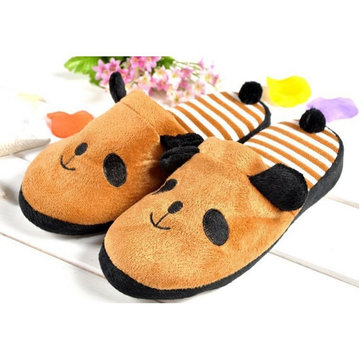 Cute Anti Slip Panda With Tail Home Slippers Keep Warm Shoes