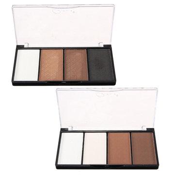 Qianle 4 couleurs Ombre à paupières Palette Shading Dark Earth Tone Highlighter Maquillage Cosmétique