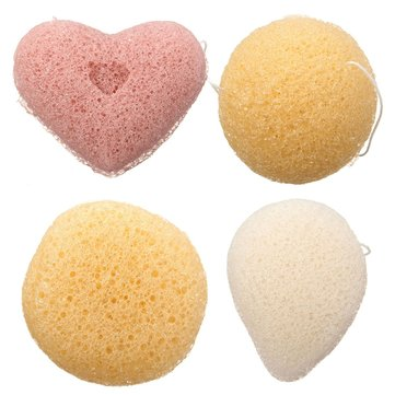Natural Konjac Konnyaku Jelly Fiber Face Cleansing Wash Sponge Puff Pad
