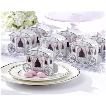 10pcs Cute Enchanted Carriage Favor Boxes Wedding Party Candy Box Wedding Suppliers
