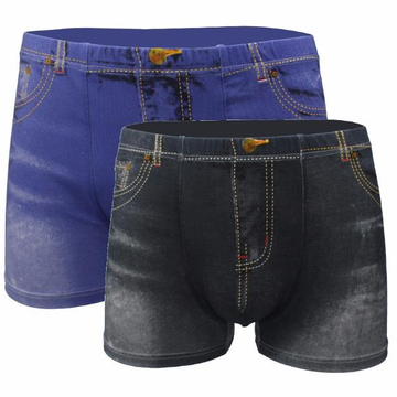 Mens Modal Boxer Cotton Jean Boxers Underwear Sports Shorts