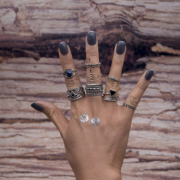 7pcs Bohemian Rings Retro Turquoise Knuckle Ring