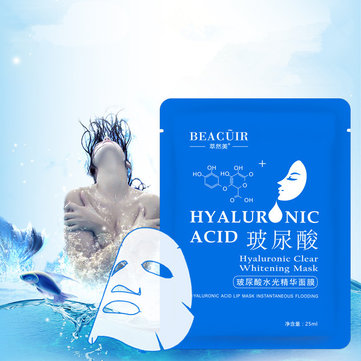 BEACUIR Moisturizing Hyaluronic Acid Facial Mask Shrink Pores Essence Deep Clean Whitening Anti-wrin