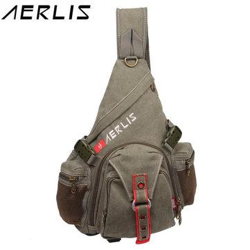 AERLIS Men Canvas Casual Travel Sport Chest Bag Shoulder Bag