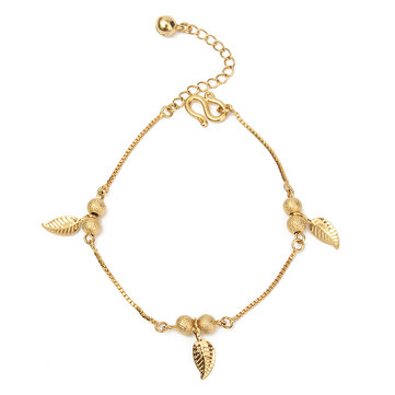 gift tassel at ball anklets online leaves simple anklet newchic nc aadc popular sale women fashion gold for