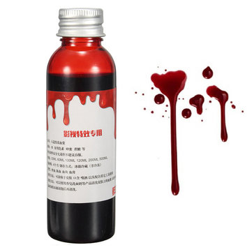 60ml Blood Effect Makeup Liquid Halloween Prop Stage Prank Театральный вампир Косплей Cosmetic
