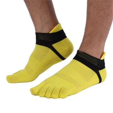 Men's Five Toes Cotton Socks Pure Breathable Sports Running Finger Socks