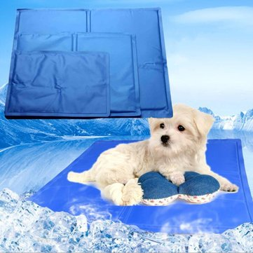 5 Sizes Pet Dog Cat Bed Non-Toxic Cooling Cool Water Cooling Gel Mat Summer Pad