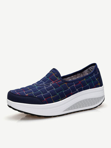 Comfortable Canvas Casual Outdoor Travel Swing Shoes For Women