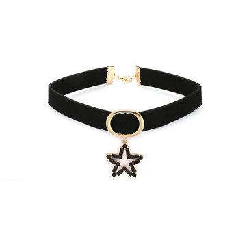 Collier de clavicule de flanelle étoile élégante Choker