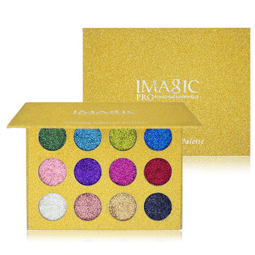 IMAGIC Glitter Eyeshadow Magnet Palette Diamond Rainbow Make Up Cosmetic Eye Shadow