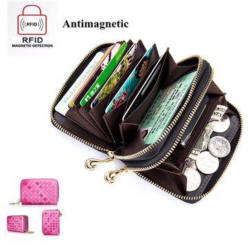RFID Genuine Leather Card Holders Credit Card Wallet  Leather Coin Purse