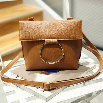 Women Vintage PU Leather Phone Bag Casual Mini Crossbody Bag