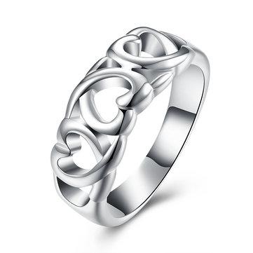 YUEYING Кольцо с позолоченными кольцами из белого золота