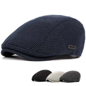 Mens Casual Gatsby Flat Beret Cap Adjustable