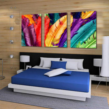 Unframed Huge Modern Abstract Feather Canvas Painting Decorative Wall Picture