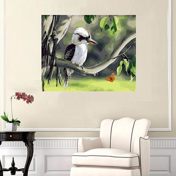 40X50CM Wood Unframed Bird On Tree Painting DIY Self Handcrafted Paint Kit Home Decor