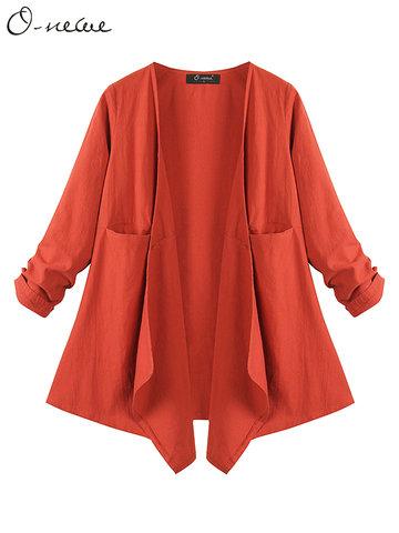 O-NEWE élégante veste légère à manches longues manches longues pour femmes