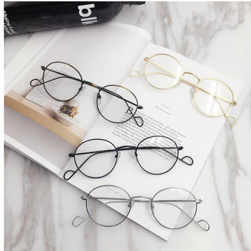 Men Women Vintage Round Circle Eyeglasses Clear Lens Casual Glasses