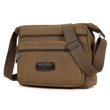 Canvas Casual Shoulder Messenger Bag Crossbody Bag For Men