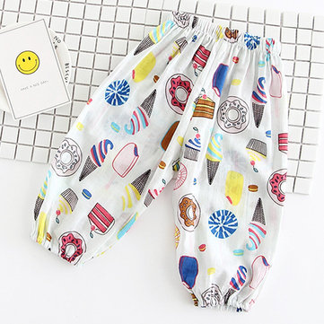 Casual Print Cotton Harem Pants For Kids Girl