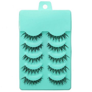 5 Pairs Natural False Eyelashes Soft Long Handmade Makeup Eye Lash
