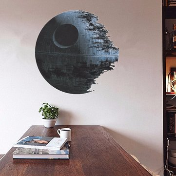 45cm Removable Death Star Wars Wall Stickers Art Vinyl Decal Kids Bedroom Home Wall Decor