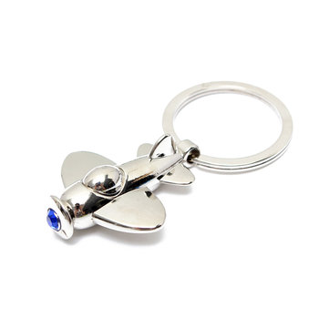 Plane Model Zinc Alloy Keychain