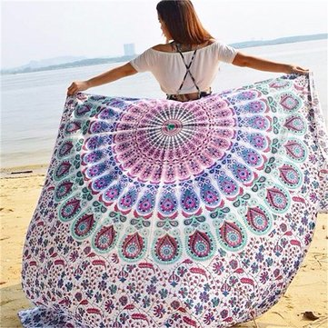 Women Beach Scarf Sun Protection Shawl Beach Towel Tapestry Wall Hanging Decor