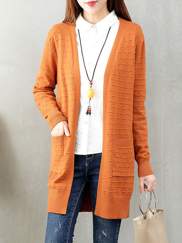 Casual Tassel Long Sleeves Knitted Sweater Cardigan For Women